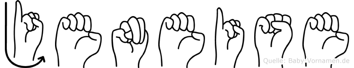 Jeneise in Fingersprache für Gehörlose