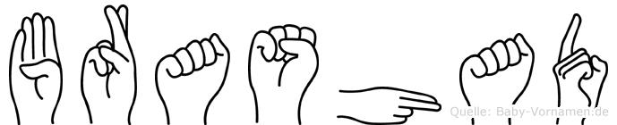 Brashad in Fingersprache für Gehörlose