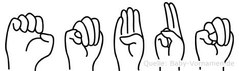 Embun im Fingeralphabet der Deutschen Gebärdensprache