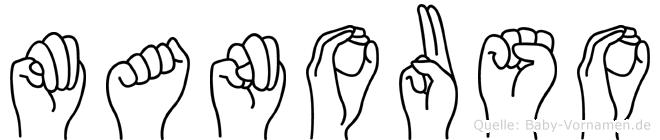 Manouso im Fingeralphabet der Deutschen Gebärdensprache