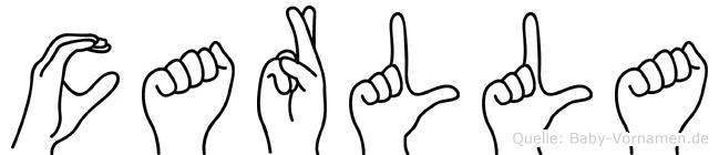 Carlla in Fingersprache für Gehörlose