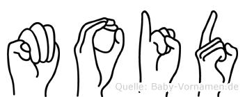 Moid im Fingeralphabet der Deutschen Gebärdensprache
