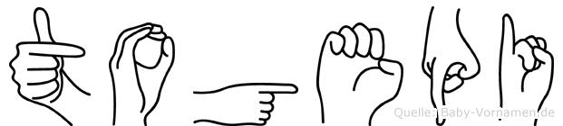 Togepi in Fingersprache für Gehörlose