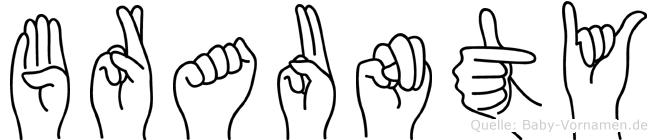 Braunty in Fingersprache für Gehörlose