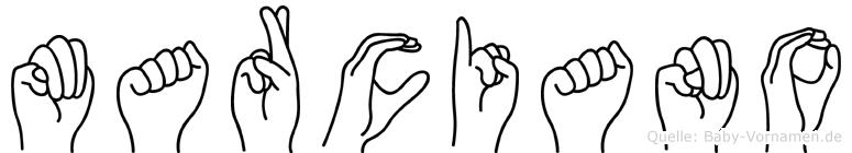 Marciano in Fingersprache für Gehörlose
