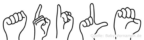 Adile in Fingersprache für Gehörlose