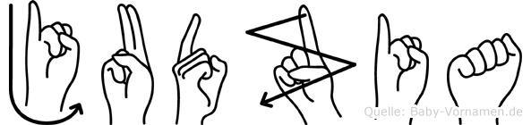 Judzia in Fingersprache für Gehörlose