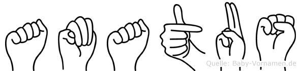 Amatus in Fingersprache für Gehörlose