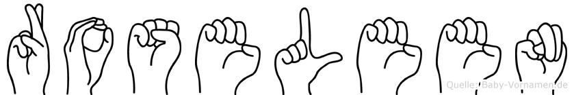 Roseleen in Fingersprache für Gehörlose
