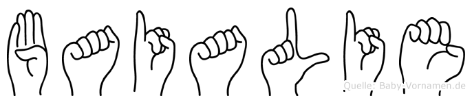 Baialie in Fingersprache für Gehörlose