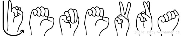 Jenevra in Fingersprache für Gehörlose