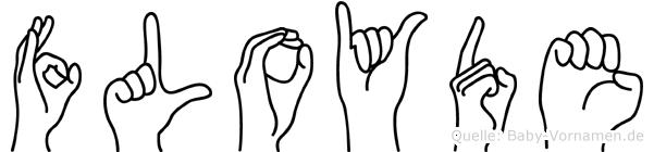 Floyde im Fingeralphabet der Deutschen Gebärdensprache