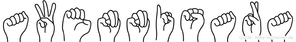 Awennisara in Fingersprache für Gehörlose