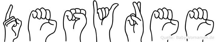 Desyree im Fingeralphabet der Deutschen Gebärdensprache