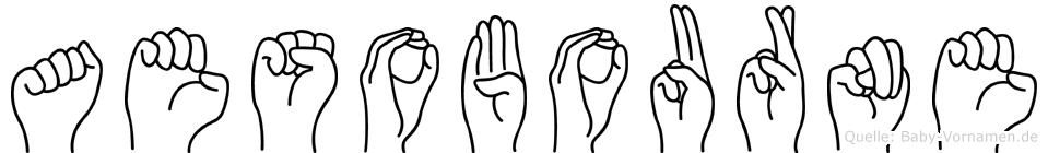 Aesobourne in Fingersprache für Gehörlose