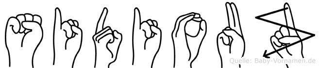 Sidiouz in Fingersprache für Gehörlose