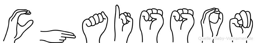 Chaisson in Fingersprache für Gehörlose