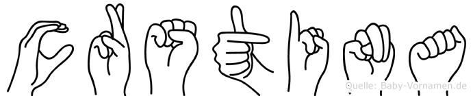 Crstina in Fingersprache für Gehörlose