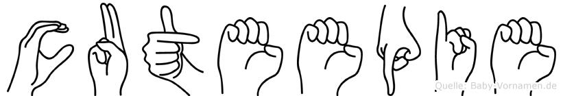 Cuteepie in Fingersprache für Gehörlose