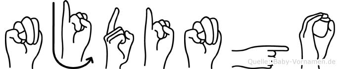 Njdingo in Fingersprache für Gehörlose