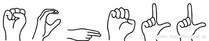 Schell in Fingersprache für Gehörlose