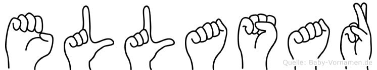 Ellasar im Fingeralphabet der Deutschen Gebärdensprache
