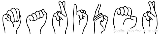 Marider im Fingeralphabet der Deutschen Gebärdensprache