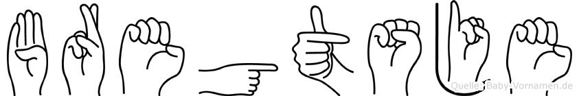 Bregtsje im Fingeralphabet der Deutschen Gebärdensprache