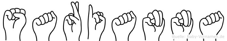 Sarianna in Fingersprache für Gehörlose