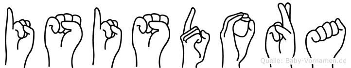 Isisdora in Fingersprache für Gehörlose