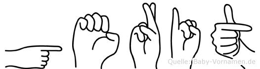 Gerit im Fingeralphabet der Deutschen Gebärdensprache