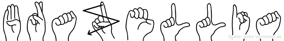 Brazellia im Fingeralphabet der Deutschen Gebärdensprache