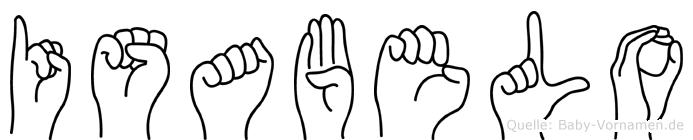 Isabelo im Fingeralphabet der Deutschen Gebärdensprache