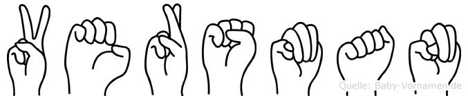 Versman im Fingeralphabet der Deutschen Gebärdensprache