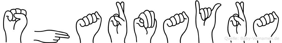 Sharmayra in Fingersprache für Gehörlose