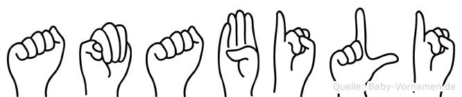 Amabili in Fingersprache für Gehörlose