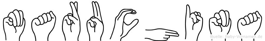 Maruchina im Fingeralphabet der Deutschen Gebärdensprache