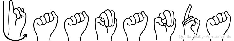 Jaamanda im Fingeralphabet der Deutschen Gebärdensprache