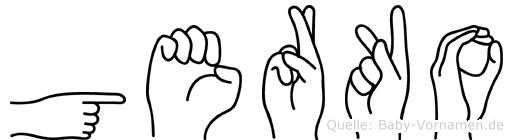 Gerko in Fingersprache für Gehörlose