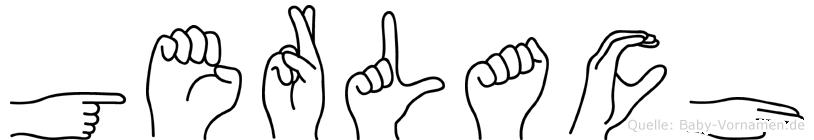 Gerlach im Fingeralphabet der Deutschen Gebärdensprache