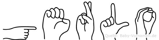 Gerlo im Fingeralphabet der Deutschen Gebärdensprache