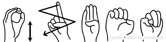 Özben im Fingeralphabet der Deutschen Gebärdensprache
