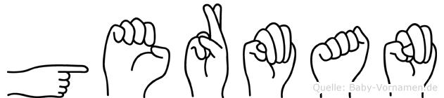 German in Fingersprache für Gehörlose