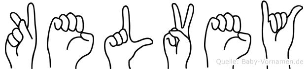 Kelvey in Fingersprache für Gehörlose