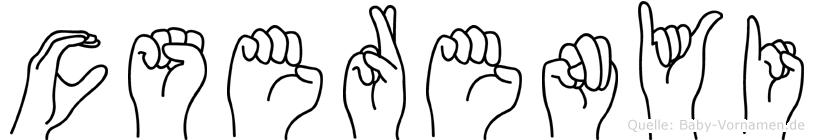 Cserenyi in Fingersprache für Gehörlose