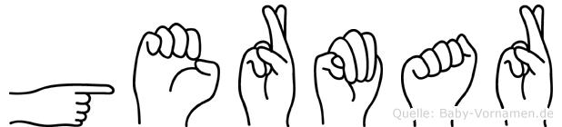 Germar im Fingeralphabet der Deutschen Gebärdensprache