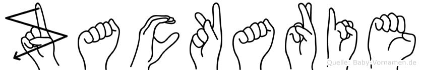 Zackarie im Fingeralphabet der Deutschen Gebärdensprache