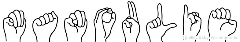 Manoulie in Fingersprache für Gehörlose