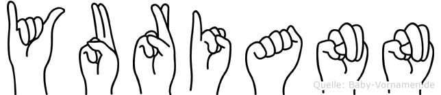 Yuriann im Fingeralphabet der Deutschen Gebärdensprache