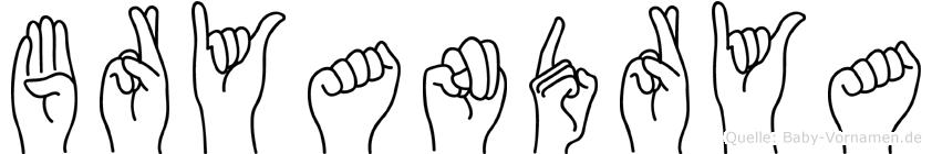 Bryandrya in Fingersprache für Gehörlose